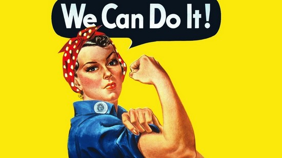 we can do it - women power